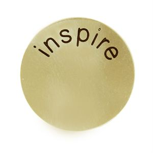 Picture of 'Inspire' Medium Gold Coin